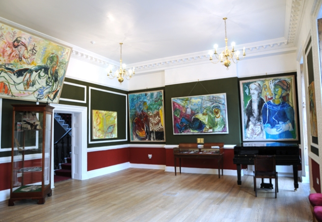 """""""Our Friend Larionov"""", Pushkin House, 2014. An exhibition of collaborative works by Billy Childish, Harry Adams and Edgeworth"""
