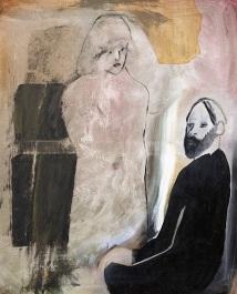 A vicar (oil and acrylic)