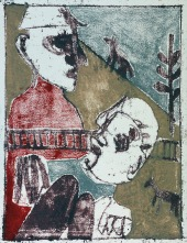 After Childish Edgeworth (by Edgeworth, after a joint painting by Billy Childish & Edgeworth)