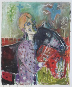 Heckel's Horse by Childish Edgeworth. Joint painting by Billy Childish, and Edgeworth.