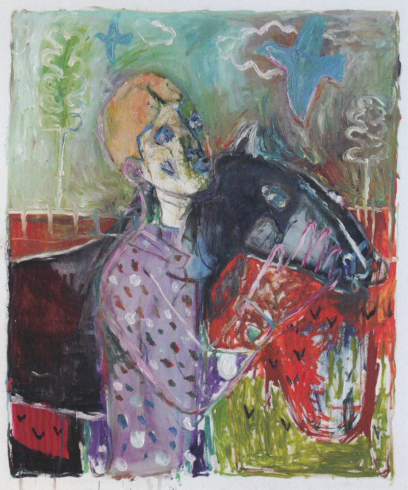 Heckel's Horse by Heckels Horse. A joint painting by Billy Childish and Edgeworth.