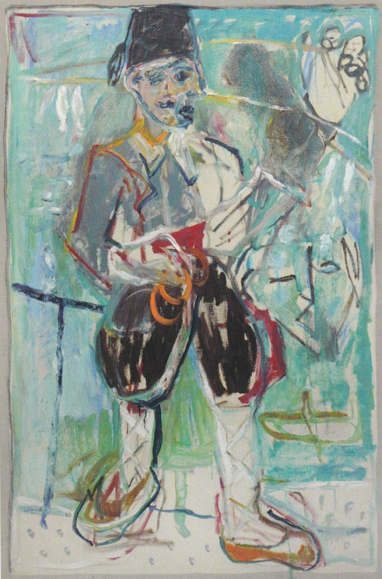 A Turk (After Larionov) by Childish Adams Edgeworth. Joint painting by Billy Childish, Harry Adams and Edgeworth.