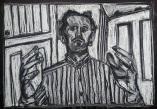 Self-portrait, striped shirt