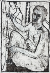 Self-portrait with mirror image