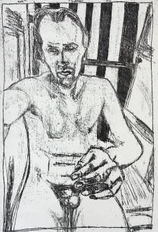 Self-portrait at bath time
