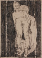 Self-portrait nude, lying back 1