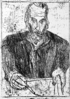 Self-portrait with open collar