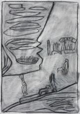 Bridge for donkeys (after Pirosmani)