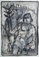 Man in undergrowth