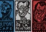 """""""L'ABC de la peinture"""" art exhibition poster by Edgeworth."""