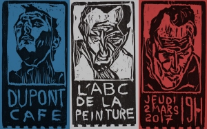 """L'ABC de la peinture"" art exhibition poster by Edgeworth."