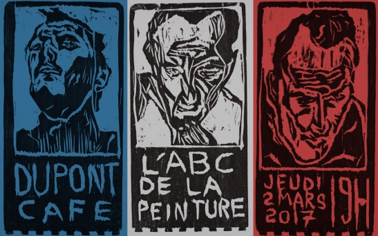 L'ABC de la peinture - art exhibition poster by Edgeworth.