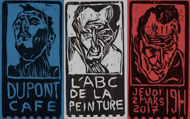 L'ABC de la peinture - art exhibition poster by Edgeworth.