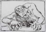 Self-portrait, crouched forward knelt down 1
