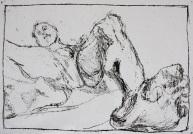 Self-portrait nude, lying back 3