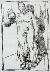 Self-portrait nude, lying back 2