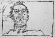 Self-portrait, to left from below