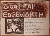Goat tap lyrics and woodcuts.