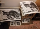 Cat block prints.