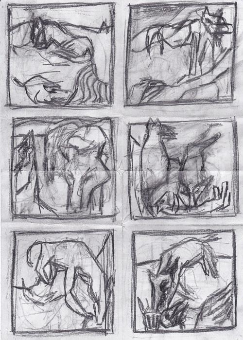 A4 pencil squares 1 Canine