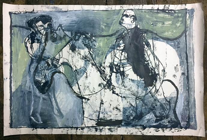 A man on two horses