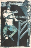 Man Jumping by a Fence