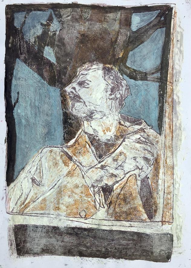 Self-portrait under Kenwood tree 10