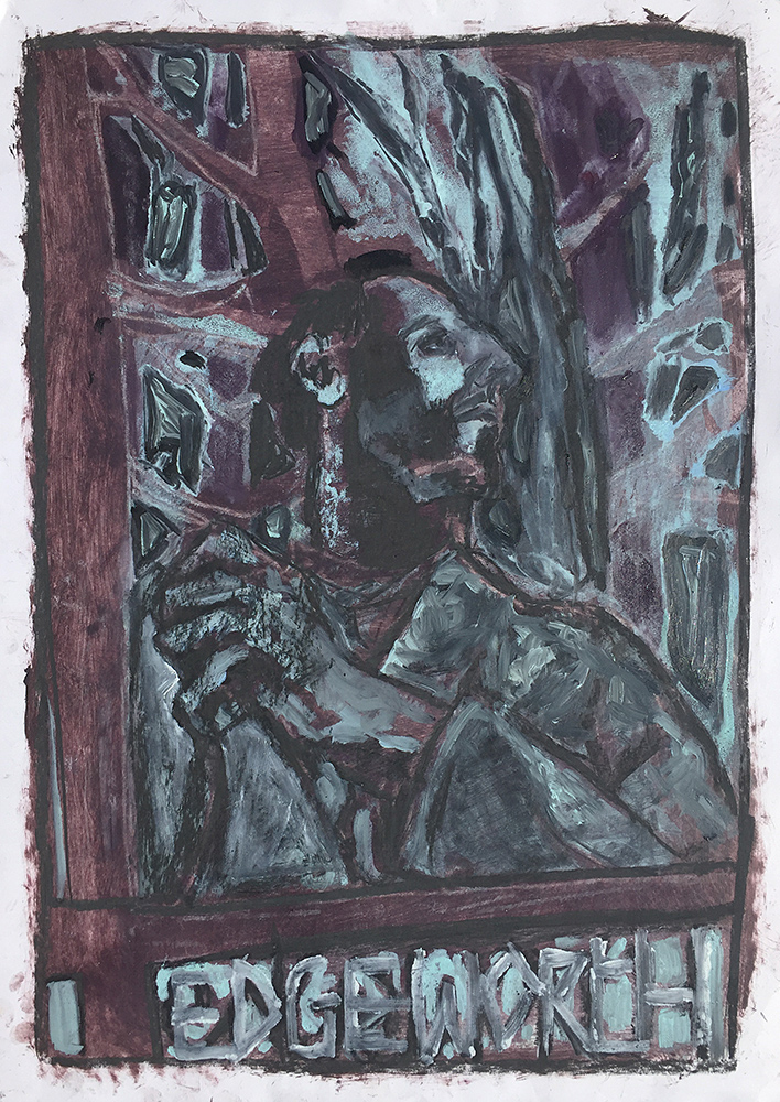 Self-portrait under Kenwood tree 11