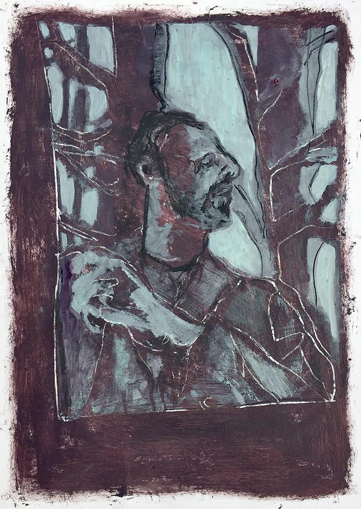 Self-portrait under Kenwood tree 12