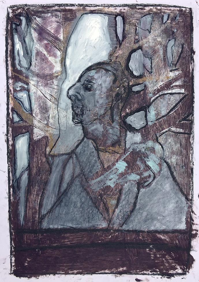 Self-portrait under Kenwood tree 13