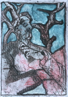 Self-portrait under Kenwood tree 3
