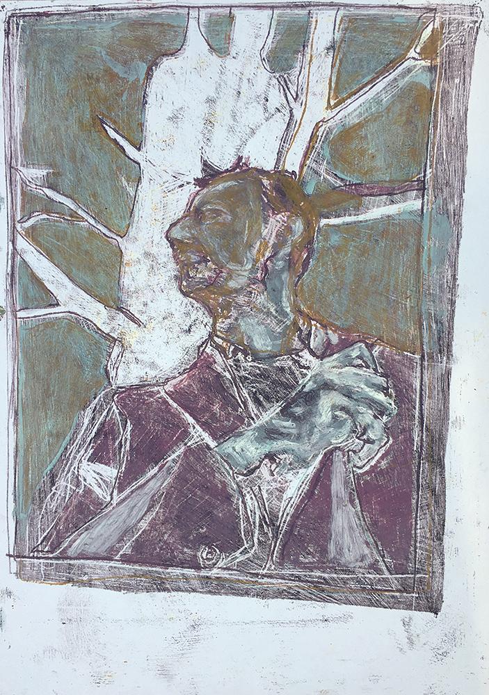 Self-portrait under Kenwood tree 7