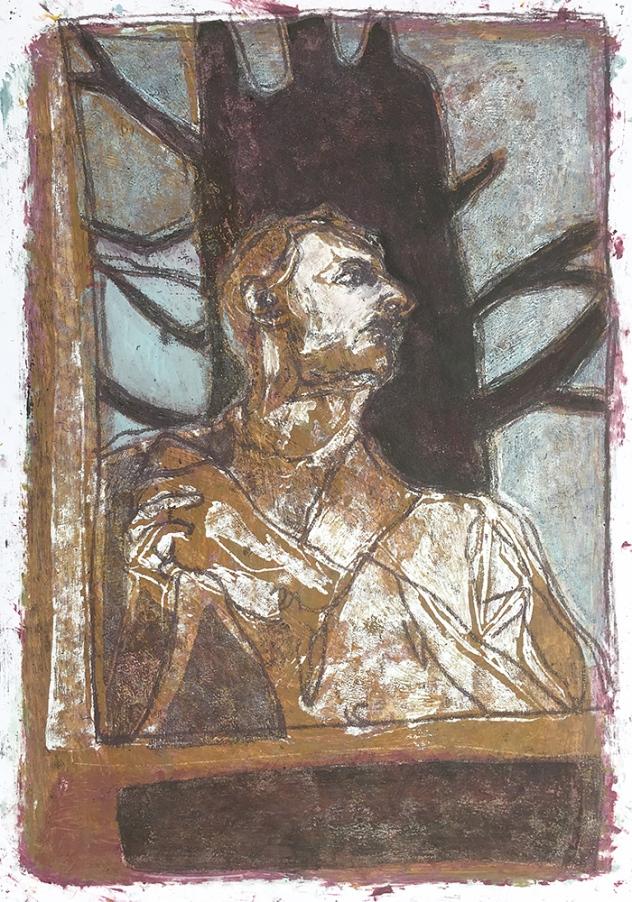 Self-portrait under Kenwood tree 8