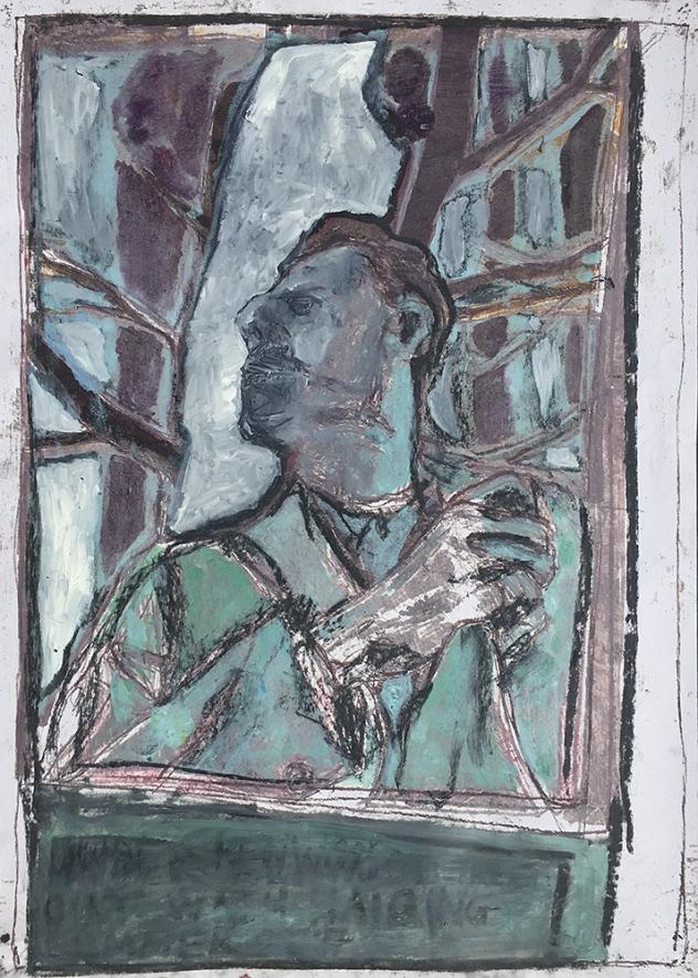 Self-portrait under Kenwood tree 9