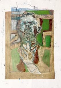 Self-portrait pushing bottom lip 5