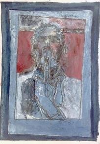 Self-portrait pushing bottom lip 9