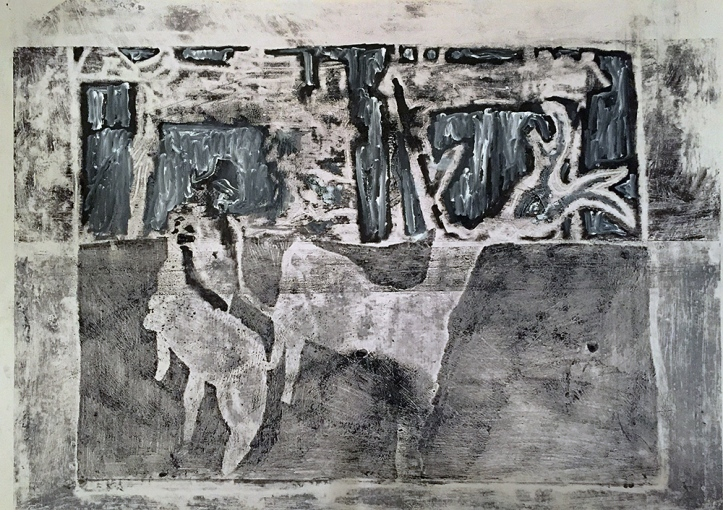 Stag and horseman 3
