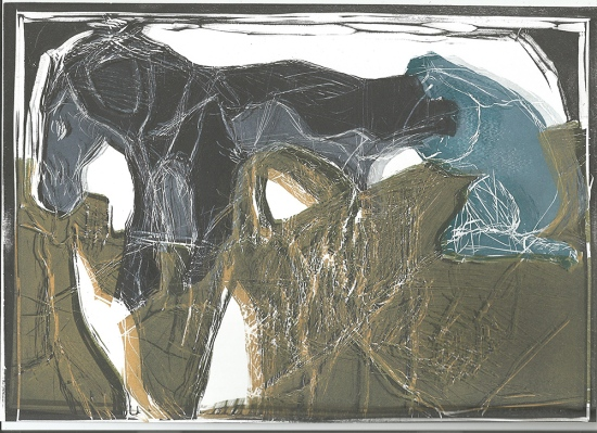 Girl shoeing a horse 12