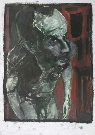 Self-portrait in the studio 3