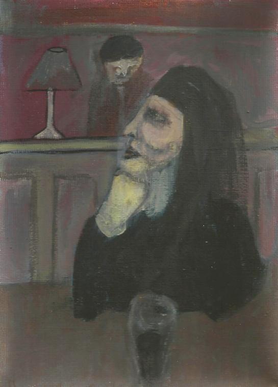 Woman in a pub