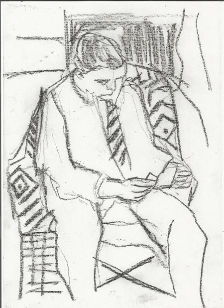 Man in an armchair