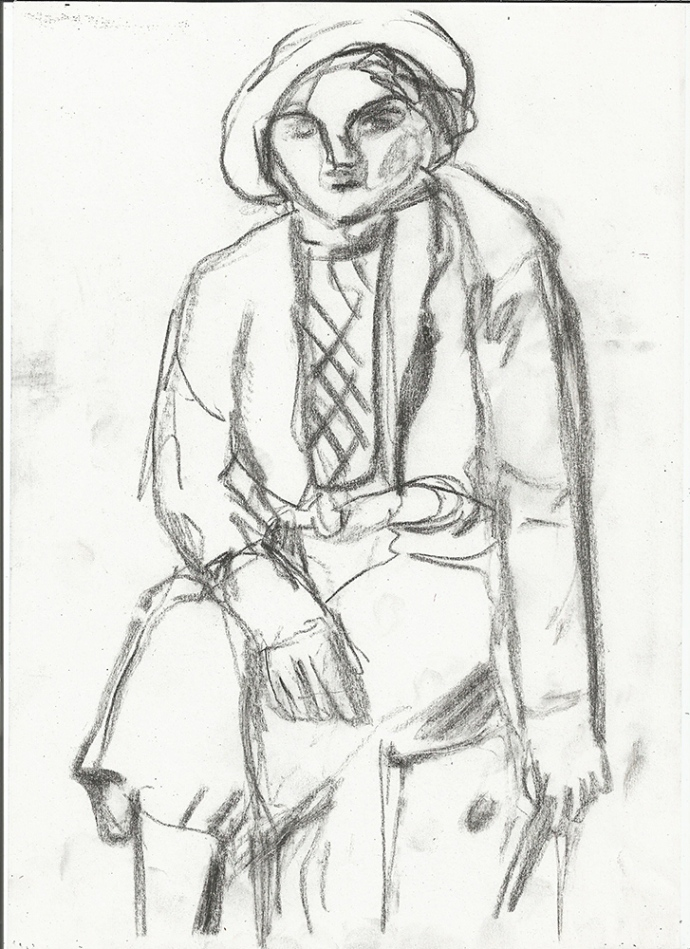 Woman in a hat 1