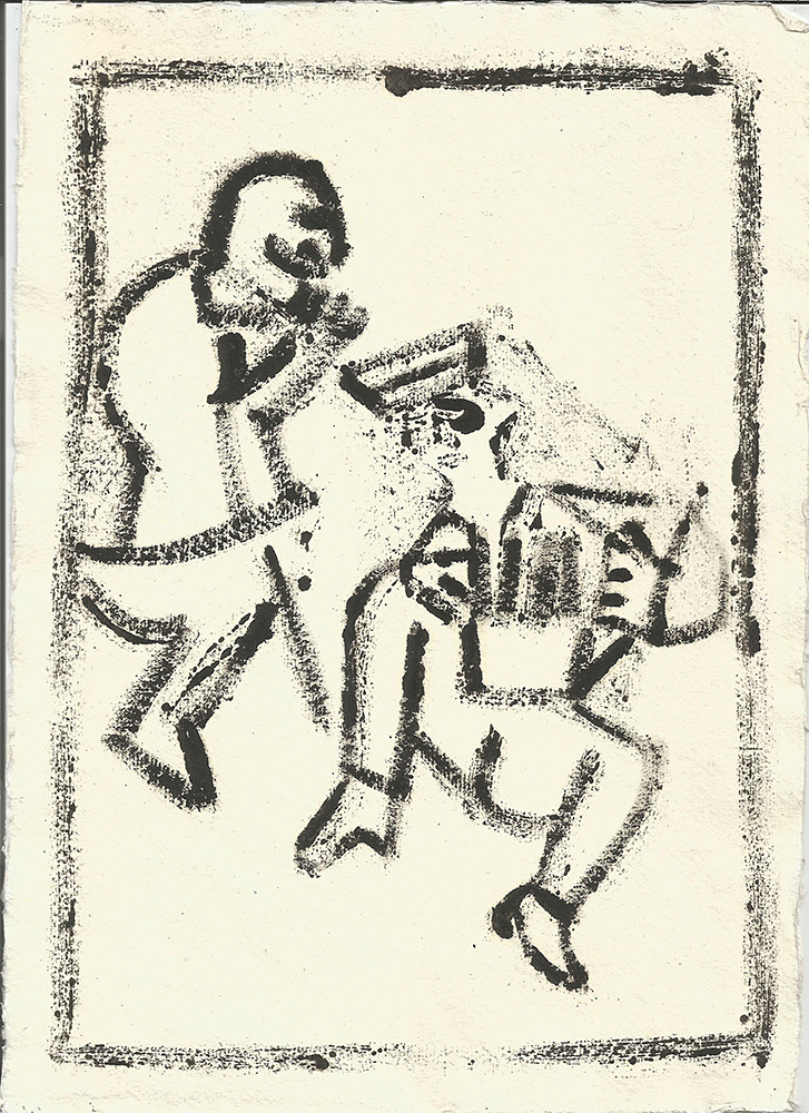 Dancing soldier 1 (After Mikhail Larionov)