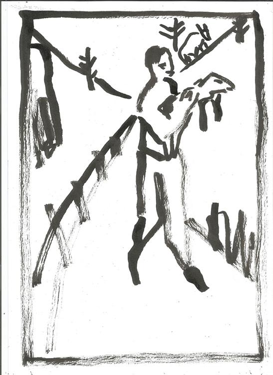 Man carrying a lamb