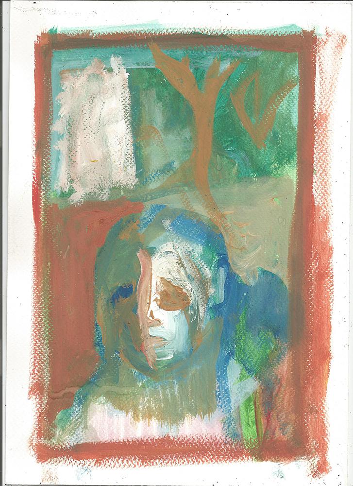 Boy in a woods