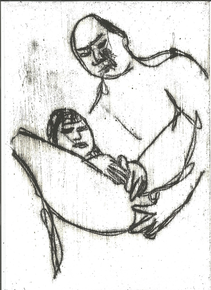 A couple preparing for sex