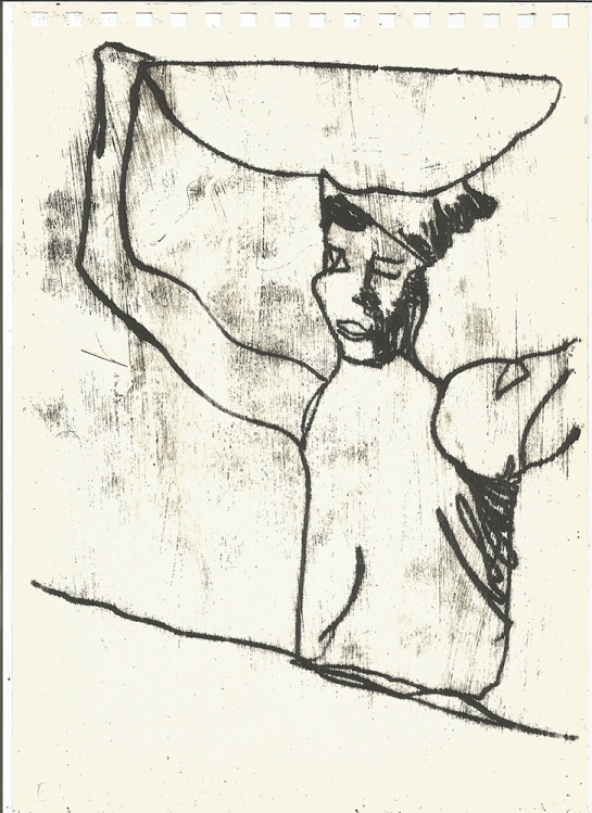 Woman carrying a bowl 2