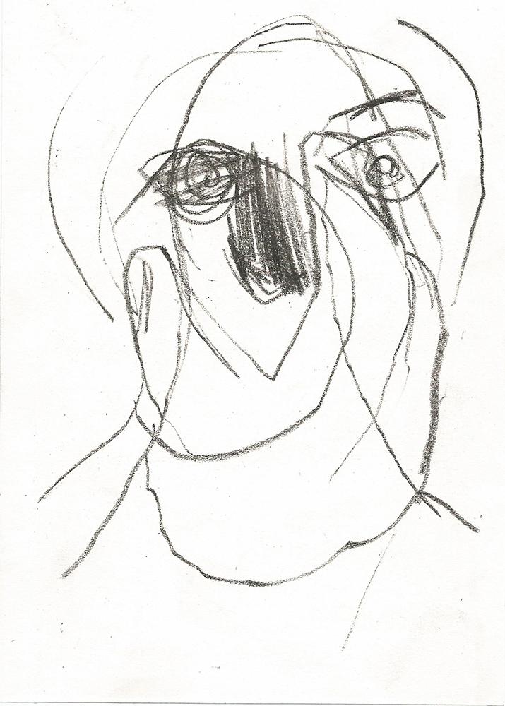 Woman picking her eye