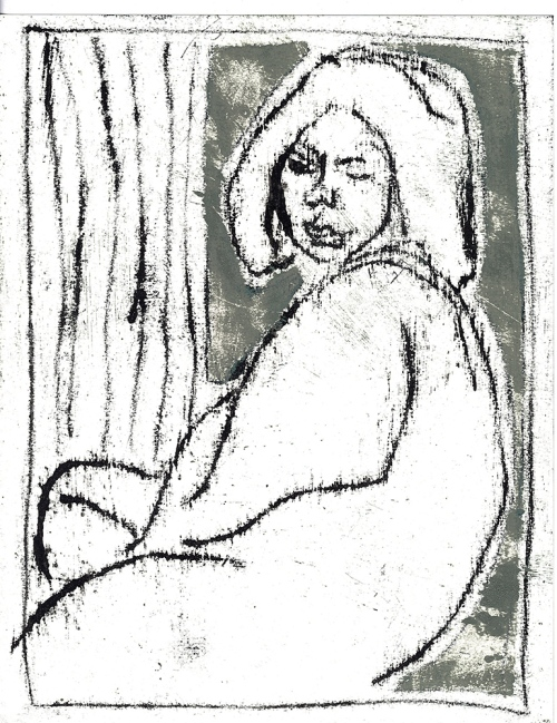 Woman by a window
