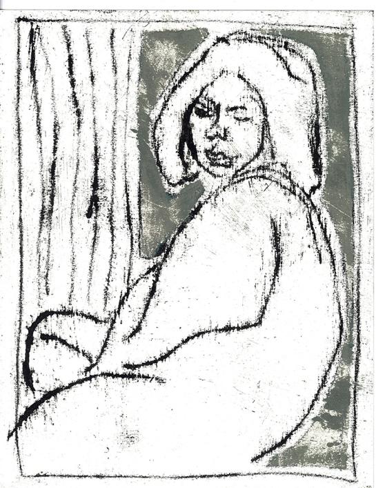Woman by a window